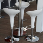 Modern bar stools and table