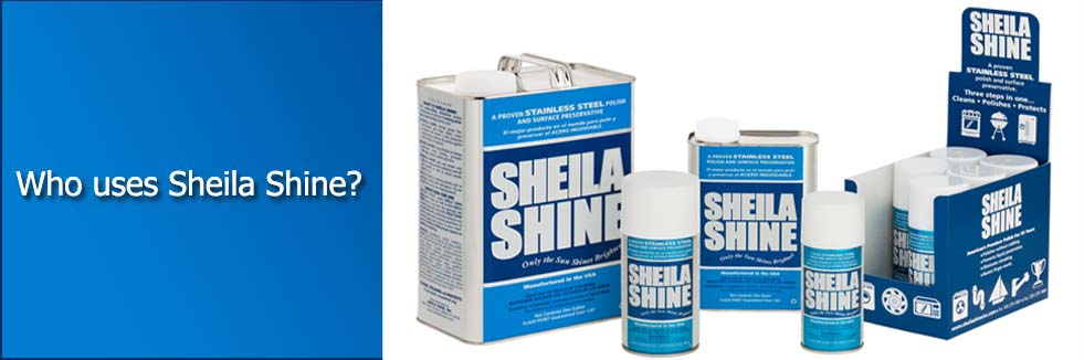 Who uses Sheila Shine?
